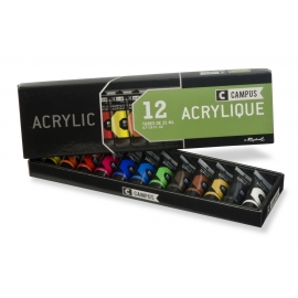 CAMPUS ACRYLIC - SET OF 12 TUBES - X21ML