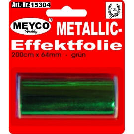 METALLIC EFFECTFOIL 64MM X 200CM - GREEN