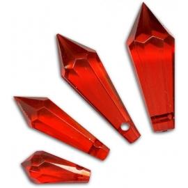 ACRYLIC ASSORTED DIAMANTEN 30PCS - RED
