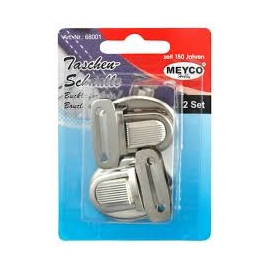 BAG BUCKLE 35 X 30MM SET 2 - SILVER