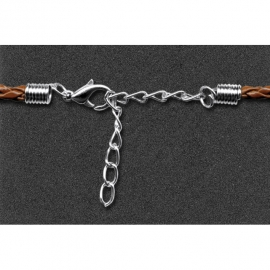 KARABINA WITH CHAIN 2,0MM - 2 SETS - SILVER