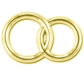 DECORATION GOLD RINGS - 15 PCS
