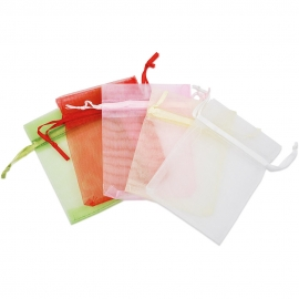CREAM ORGANZA BAGS - 8 X 10CM - PACK OF 6