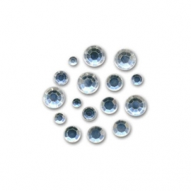 ACRYLIC STRASS 2MM - 4MM KRISTALL - 300PCS
