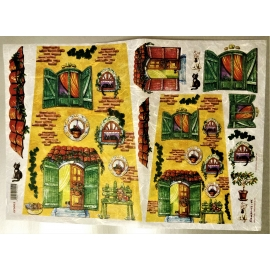 CATS HOUSE RICE PAPER