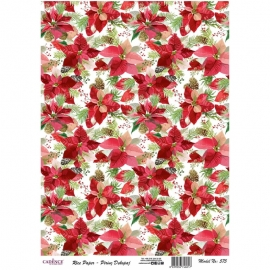 POINSETTIA RICE PAPER
