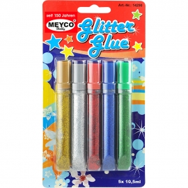 GLITTER GLUE SET 5 PCS 10.5ML