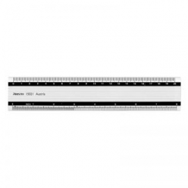 ARISTO ALLUMINIUM RULER RUBBER SURFACE - 100 CM