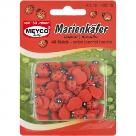 MEYCO WOODEN LADYBIRDS