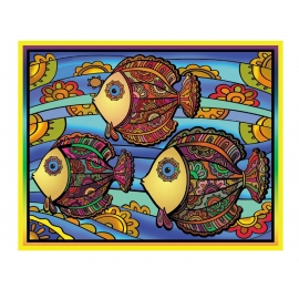FISH COLORVELVET SET -47X35CM