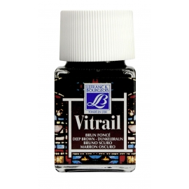 VITRAIL GLASS PAINT - DEEP BROWN