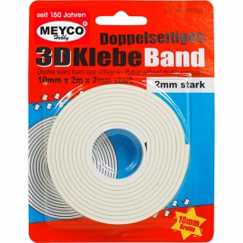 Meyco - 3D Double Sided Foam Tape 10mmx2m