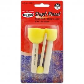 Meyco - Round Sponge Brush Set x3