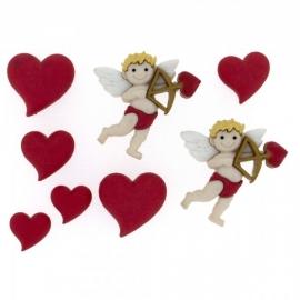 Dress It Up Buttons - Cupid's Arrow