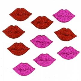 Dress It Up Buttons - Glitter Lips