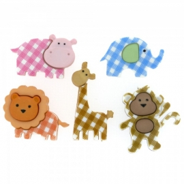 Dress It Up Buttons - Baby Safari