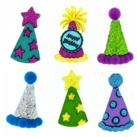 Dress It Up Buttons - Party Hats