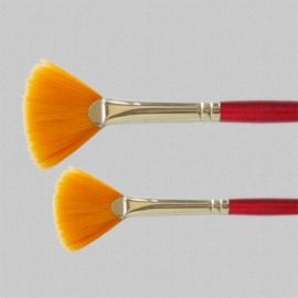 U-ART -  Gold Nylon Fan Brush - No.5
