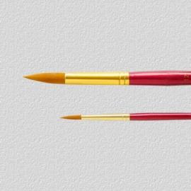 U-ART -  Gold Nylon Round Brush - No.4