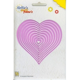 Nellie's - Multi Frame Dies - Straight Heart