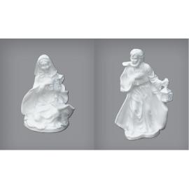 Polystyrene Set - Mary & Joseph