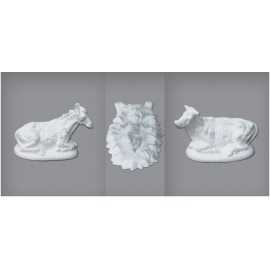 Polystyrene Set - Jesus & Crib Animals