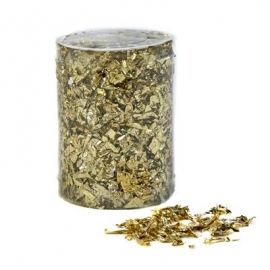 CONFETTI FLAKES 30GRM IN BOX 10CM - GOLD