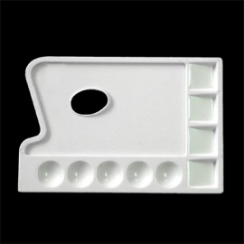 9 WELL PLASTIC OBLONG PALETTE 24 X 16.5CM