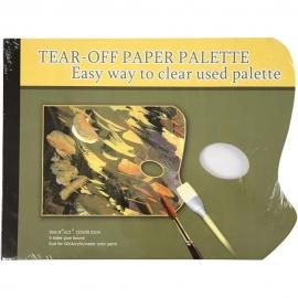 """TAPE GLUE BOND DISPOSABLE PAPER PALETTE PADS - 9"""" X 12"""""""