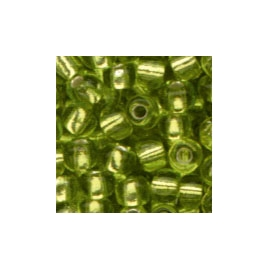 LIGHT GREEN GLASS BEADS - 2.5MM