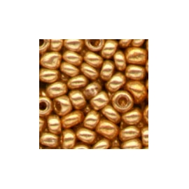 METALLIC GOLD GLASS BEADS - 2.5MM