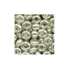 METALLIC SILVER GLASS BEADS - 2.5MM