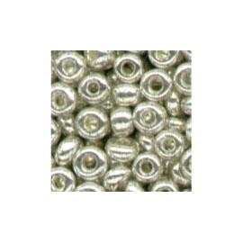 METALLIC SILVER GLASS BEADS - 2.5MM