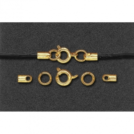 CLASPS FOR LACES 2MM - GOLD