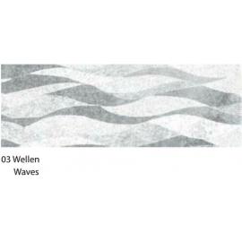 23X33CM SILVER WAVES CARDBOARD 120G