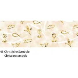 A4 GOLD DESIGNED CARDBOARD 230G - CHRISTIAN SYMBOLS
