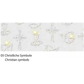 A4 FASCINATION CARDBOARD 220G - CHRISTIAN SYMBOLS W/GLITTERS