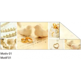 A4 CREAM & GOLD STARLIGHT WEDDING CARDBOARD 240G - MOTIF 01