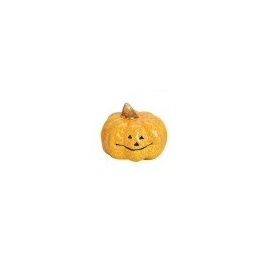 SMALL DECORATION PUMPKIN  5 X 5CM - YELLOW