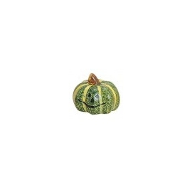 SMALL DECORATION PUMPKIN  5 X 5CM - GREEN