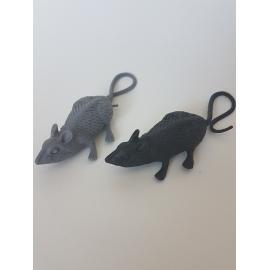 8 PLASTIC RATS - 6CM
