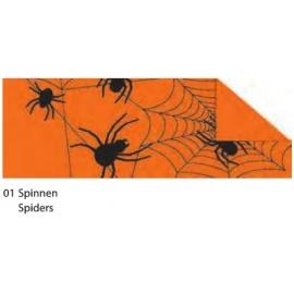HALLOWEEN CARDBOARD 49.5X68CM - SPIDERS