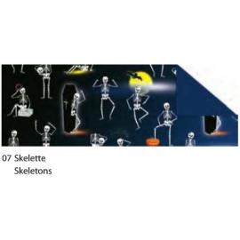 HALLOWEEN CARDBOARD 49.5X68CM - SKELETONS