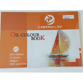 A3 OIL COLOR PAD 200GRMS, 12 SHEETS