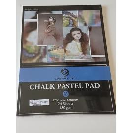 A3 CHALK PASTEL PAD 180GRMS, 24 SHEETS