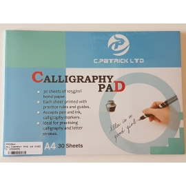A4 CALLIGRAPHY PAD 105GRMS, 30 SHEETS