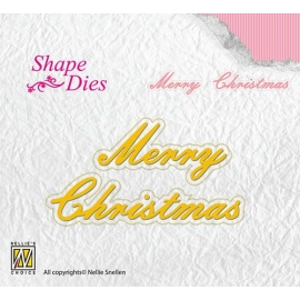 NELLIE'S - SHAPE DIES TEXT - MERRY CHRISTMAS