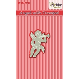 NELLIE'S - HOBBY SOLUTION DIE - ANGEL WITH TRUMPET