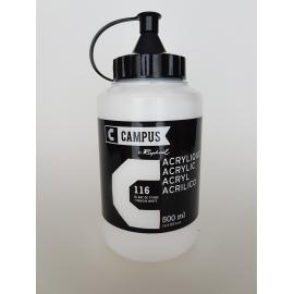 CAMPUS ACRYLIC 500ML - TITANIUM WHITE