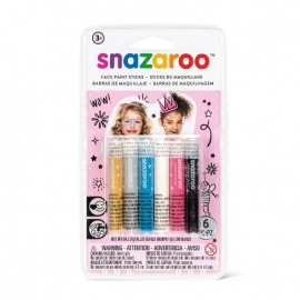GIRLS 6 FACE PAINTING STICKS SET